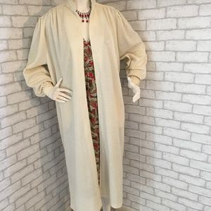 Sybil Vintage 70's wool/knit midi length coat - XL